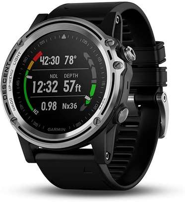 Garmin Descent Mk1, Watch-Sized Dive Computer with Surface GPS, Includes Fitness Features, Silver/Black