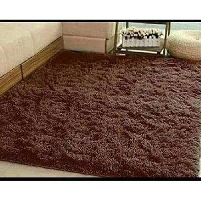 Brown Chocolate Soft Fluffy Carpet 5*8 image 2