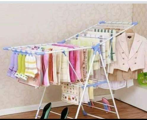 Foldable outdoor cloth rack image 1