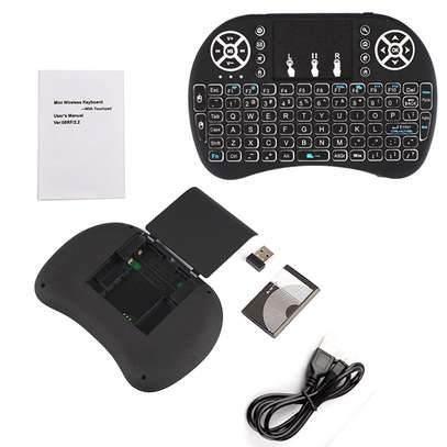 Generic Wireless Mini Keyboard with Mouse Touchpad and Back-light for Android Box/ Smart TV/ Laptop - Black
