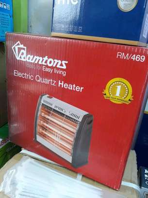 Ramtons RM/469 Electric Bar Quartz Heater, Black & Silver image 1