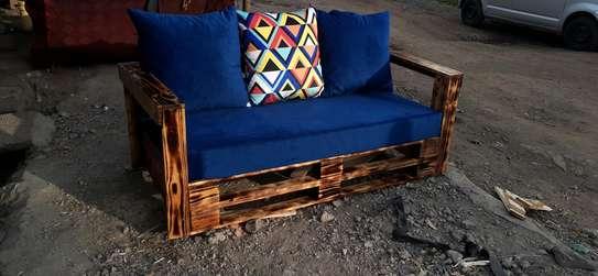3 seater sofa/3 seater pallet sofa/pallet seats/pallet sofas/pallet furniture image 1