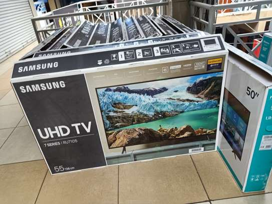 Samsung 55 smart digital 4k TV model ru7100 image 1