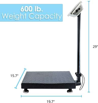 Houseables Industrial Platform Scale 150kg Digital, Bench, Large for Luggage, Shipping, Package Computing, Postal image 1