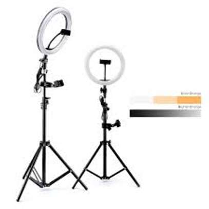 14 inch LED Ring Light 36W Bi-Color Fill Light for Live Streaming Makeup Tiktok image 1