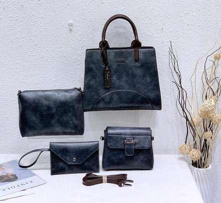 Black fashion handbag image 1