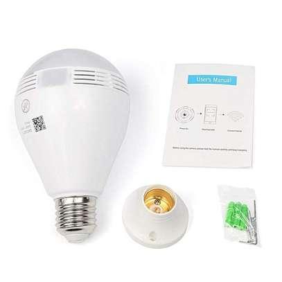 Bulb WiFi CCTV Nanny Camera 360 Degree with LED Bulb image 1