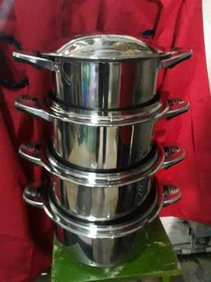 Induction stainless steel sufuria