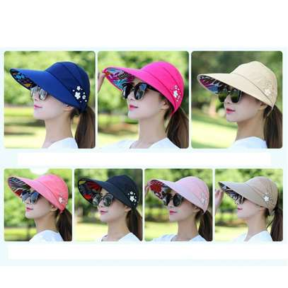 Fashion Sun Hats Women Summer Wide Foldable-black,beige,pink and peach image 4