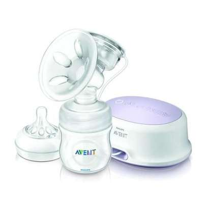 Philips AVENT Electric Breast Pump with Free Disposable Breast Pad - Clear image 1