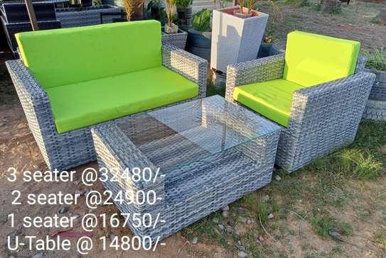 3-seater rattan sofa set image 1