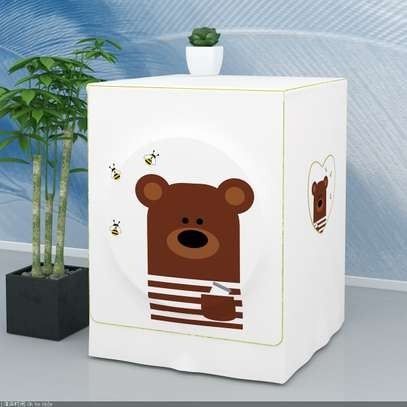 Front Load washing machine cover Bear face image 2