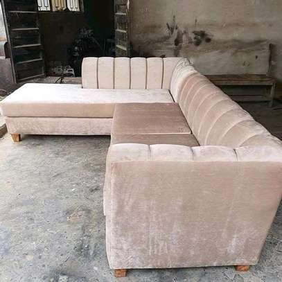 Beautiful Modern 6 Seater Welted Sectional Sofa image 1