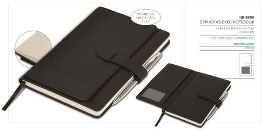 CYPHER A5 EXECUTIVE NOTEBOOK BRANDED (MINIMUM 50)