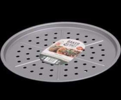 Baker & Salt Pizza Oven Tray for Crispy Base 33cm - Non-Stick image 1