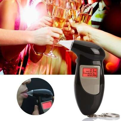 LCD Digital Alcohol Tester Breathalyzer(Black) image 1