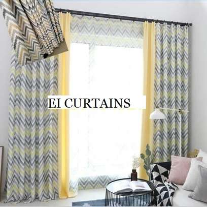 GREY AND YELLOW CURTAINS image 4