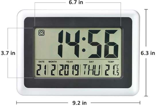 Digital LED Wall Clock With Alarm,Date,Temperature image 2