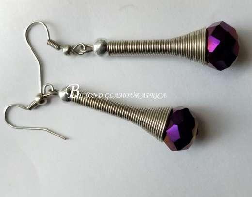 Purple Crystal earrings image 1