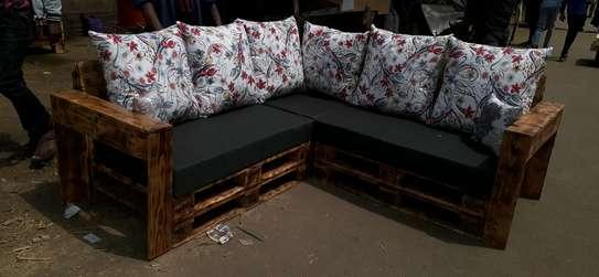 5 seater Pallet sofa/pallet furniture/corner seat image 2