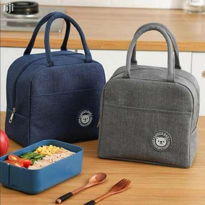 Women Men Kid Work School Picnic Lunch Food Insulated Bag image 2