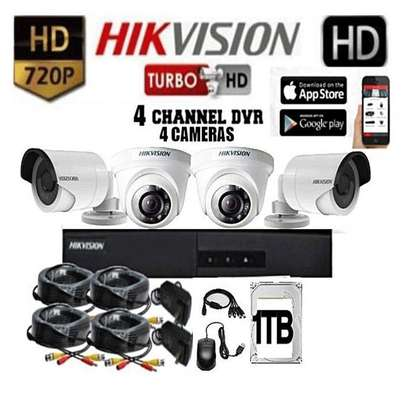 720p Hikvision 4 cameras kit dome and or bullet cameras image 1