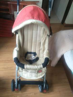 A baby stroller for sale