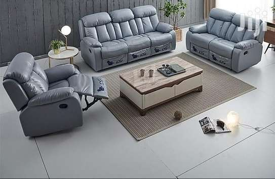 On OFFER: 6 Seater Recliner Leather Sofa Set (Brandnew, Canada Import) image 2