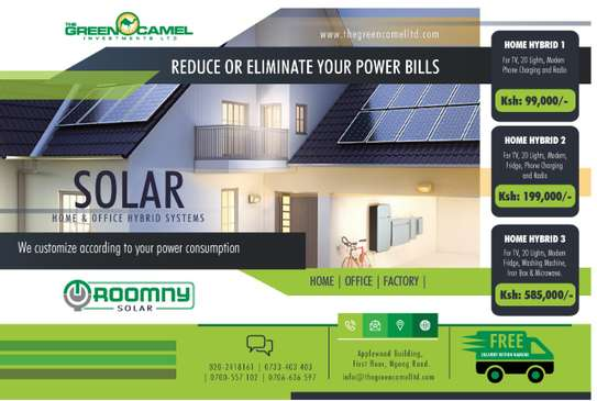 Hybrid solar home  system connected along with KPLC image 1