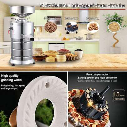 Commercial Peanut Butter Maker Machine Electric Sesame Maker, Electric Nut Butter Mill Grinding Grinder Machine image 1