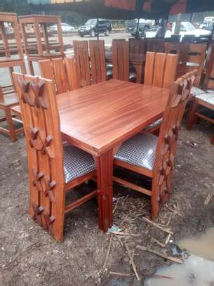 X DESIGN CHAIRS 4 SEATER DINING TABLE image 1