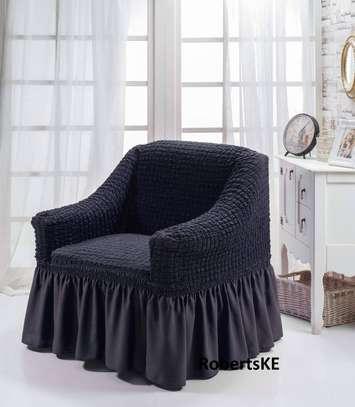 Black sofa cover image 1