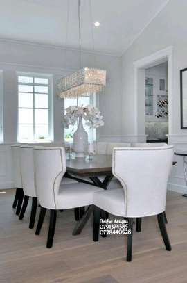 Eight seater dining set for sale in Nairobi Kenya/modern dining table designs image 1