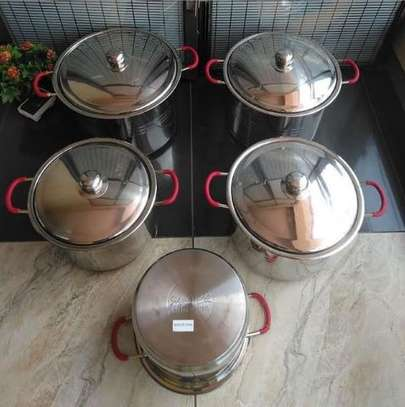10 piece induction bottom stainless steel cookware set image 1