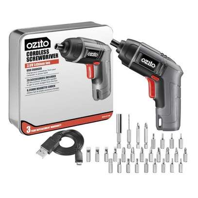 OZITO CORDLESS DRIVER 3.6 VOlts WITH METAL CASE 24 BITS image 1