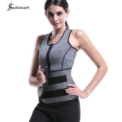 Fashion Women Slimming Belt Body Shaper Gym Fitness Waist Trainer Sauna Sweat Vest image 1