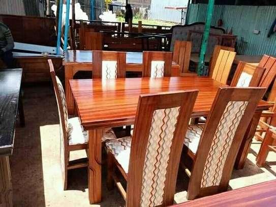 6-Seater-Mahogany made dining set image 1
