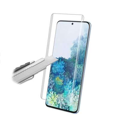 UV Light adhesive tempered glass screen protector for Samsung Galaxy S21 S21 Plus S21 Ultra + LED Kit image 3