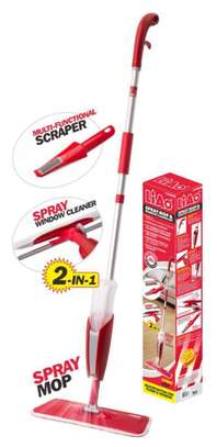 Spray mop with extra cloth,scrapper and window cleaner image 1