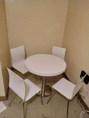 Space saver round dining table set image 1