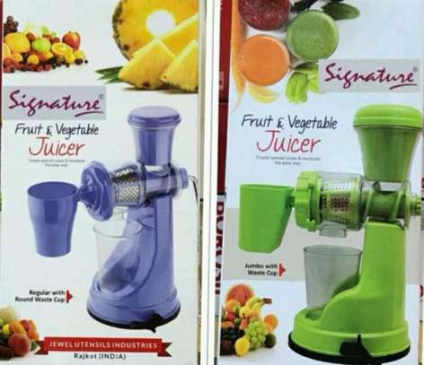 Signature fruit and vegetable juicer