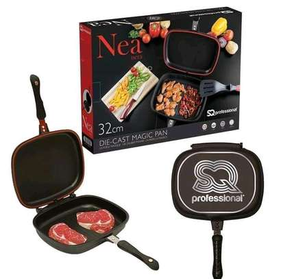 Sq professional double sided grill pan