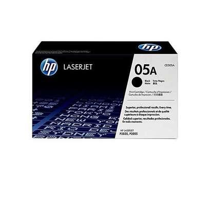 HP 05A Black Original LaserJet Toner Cartridge (CE505A) image 2