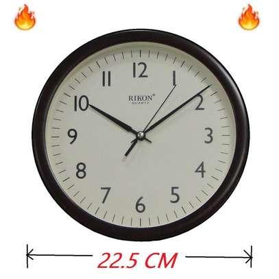 Rikon Wall Clock - Non Ticking - Ivory Dial image 1