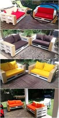 Beautiful Modern Quality 4 Seater Pallet Sofa image 1