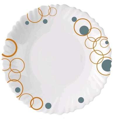 Luminar plates/6pc luminar plate/Dinner plate/Flowered plate image 1