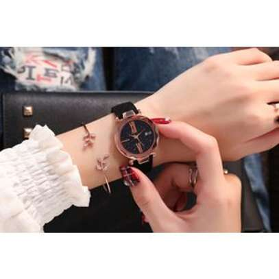 Dial Clock Leather Wrist Watch