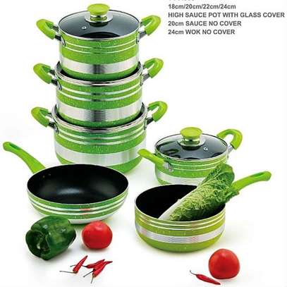 Yitong 13PCS Nonstick Cookware Set + Serving Spoons +Scouring Dish image 2