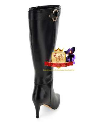 Leather Wide Fit Super Curvy Boots image 3
