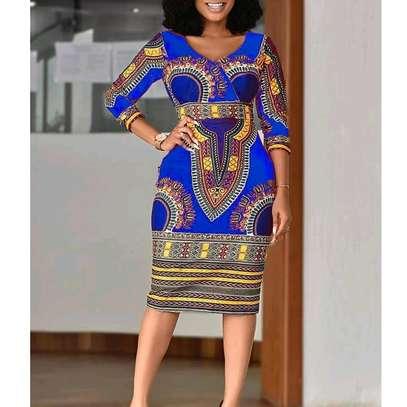 African Print Dress image 2